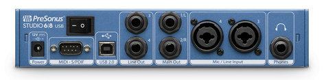 PreSonus Studio 68 6x6 USB 2.0 Audio/MIDI Interface STUDIO-68