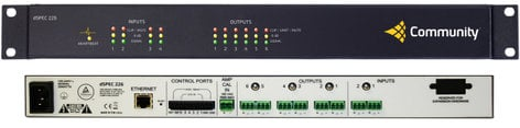 Community DSPEC226AE DSP 2 Analog In X 2 AES3 In X 6 Analog Out Speaker Processor DSPEC226AE