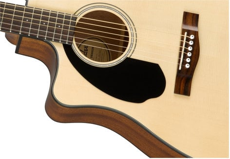 Fender CD-60SCE-LH Dreadnought Cutaway Acoustic-Electric Guitar with Rosewood Fingerboard, Left-Handed CD-60SCE-LH-NAT