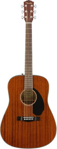 Fender CD-60S All-Mahogany Dreadnought Acoustic Guitar with Mahogany Back and Sides, Rosewood Fingerboard CD-60S-MAHOGANY