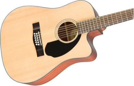 Fender CD-60SCE 12-String 12-String Dreadnought Acoustic-Electric Guitar, Natural Finish CD-60SCE-12-NAT
