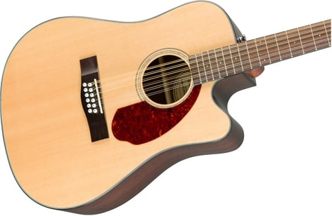 Fender CD-140SCE-12-NAT-WC CD-140SCE 12-String 12-String Dreadnought Acoustic-Electric Guitar with Hardshell Case CD-140SCE-12-NAT-WC