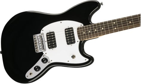 Squier (Fender) Bullet Mustang HH Electric Guitar with Dual Humbucking Pickups, Rosewood Fingerboard MUSTANG-BUL-HH