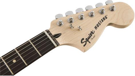 Squier (Fender) Bullet Mustang HH Electric Guitar with Dual Humbucking Pickups, Rosewood Fingerboard MUSTANG-BUL-HH