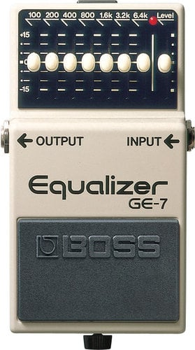 Boss GE7-BOSS Graphic EQ Pedal, 7-Band GE7-BOSS