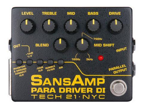 Tech 21 ParaDriver DI V2 SansAmp Direct Box PMDI-V2