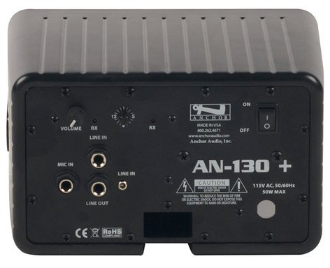 Anchor AN-130F1RCBK+  Black Speaker Monitor with One Wireless Receiver and Remote Control AN-130F1RCBK+