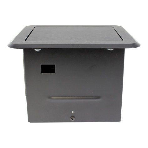 FSR, Inc TB-CHRG Tilt 'N Select Table Box with (2) USB Chargers TBCHRGBLK