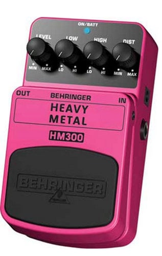 Behringer HM300 Guitar Pedal, Heavy Metal Distortion HM300
