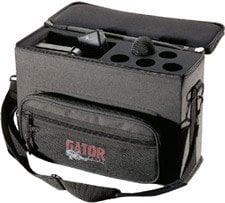 Gator Cases GM-5W Wireless Microphone System Bag, for 5 Systems GM5W
