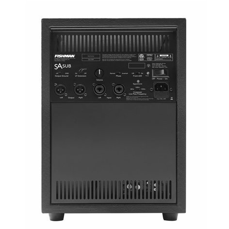 Fishman PRO-SUB-300  Subwoofer For Use With SA330X System PRO-SUB-300