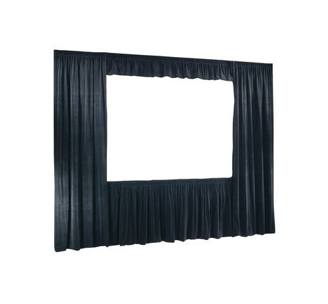 Draper Shade and Screen 220155  9ft x12ft Cinefold & UFS Velour Drapes Only, in Black 220155