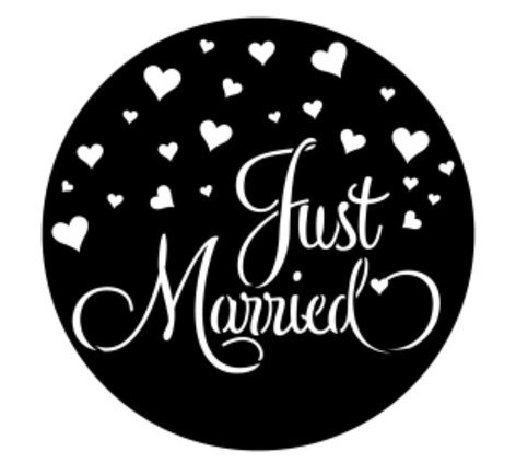 Apollo Design Technology ME-4281  Just Married Steel Gobo ME-4281