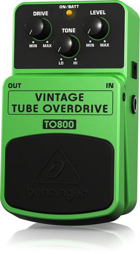 Behringer TO800 Vintage Tube OD Overdrive Guitar Pedal TO800-VINT-TUBE-OD