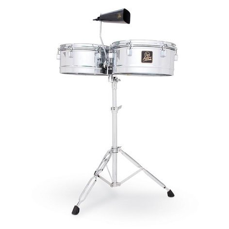 "Latin Percussion LPA256 LP Aspire 13"" & 14"" Timbale, Chrome LPA256"