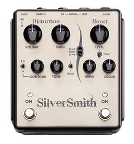 Egnater Custom Amps Silversmith High-Gain Distortion Pedal with Boost SILVERSMITH