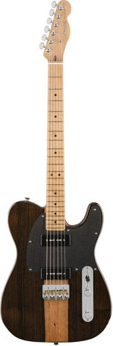 Fender 2017 Limited Edition Malaysian Blackwood Telecaster 90 Electric Guitar with JP-90 Single-Coil Pickups TELE-BLKWOOD90-LTD
