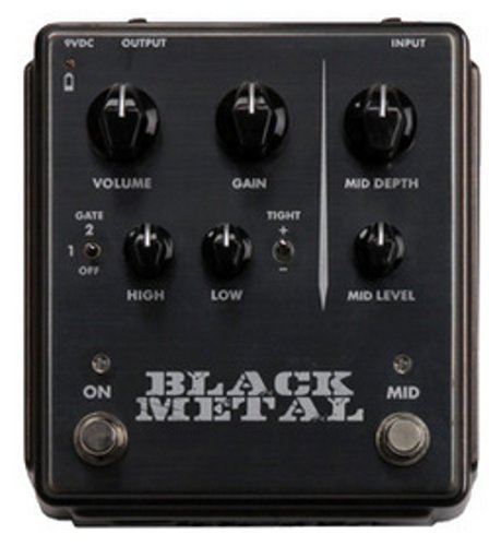 Egnater Custom Amps Black Metal High-Gain Distortion Pedal with Gate and Mid Boost BLACKMETAL