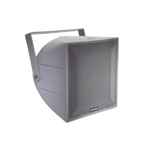 Community R.5HPT-R Full-Range, 3-Way 12-Inch Horn-Loaded 70V/100V Racetrack Catch Fence Speaker System in Grey R.5HPT-R