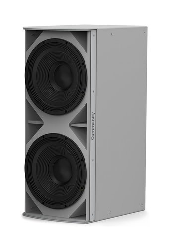 Community IS6-215WR I Series Weather-Resistant Medium-Power Dual 15-Inch 1400W Passive Installation Subwoofer in Grey IS6-215WR