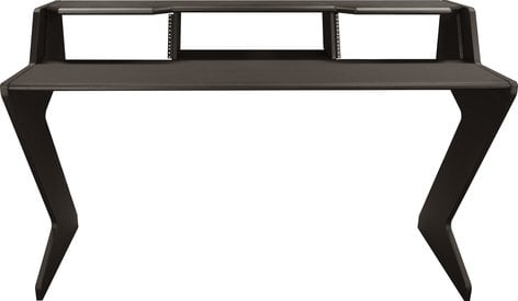Ultimate Support Nucleus-Z Explorer Studio Desk with Shelf and Two 4RU Rack Modules NUC-Z-BDM