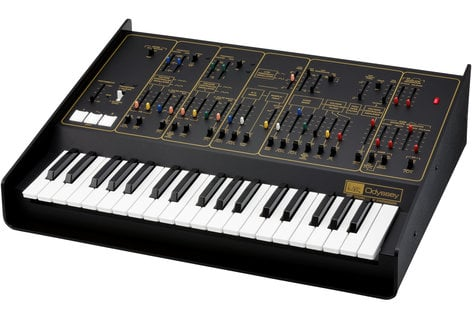 Korg ARP Odyssey FS Rev 2 Duophonic Analog Synthesizer, Black/Gold ODYSSEYFS2