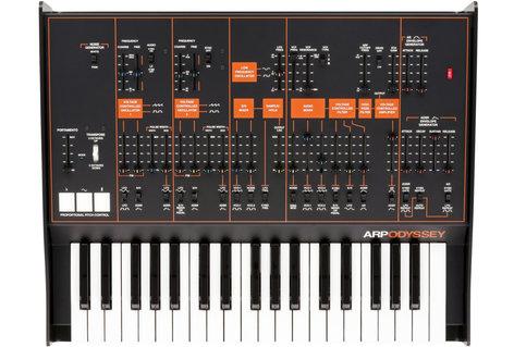Korg ARP Odyssey FS Rev 3 Duophonic Analog Synthesizer, Black/Orange ODYSSEYFS3