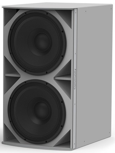 Community IS6-218WR I Series Medium Power Dual 18-Inch Subwoofer Weather-Resistant Grey IS6-218WR