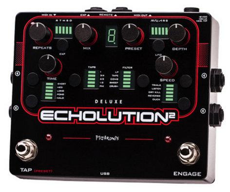 Pigtronix Echolution 2 Deluxe Programmable Multi-Tap Modulation Delay Pedal ECHOLUTION-2-DELUXE