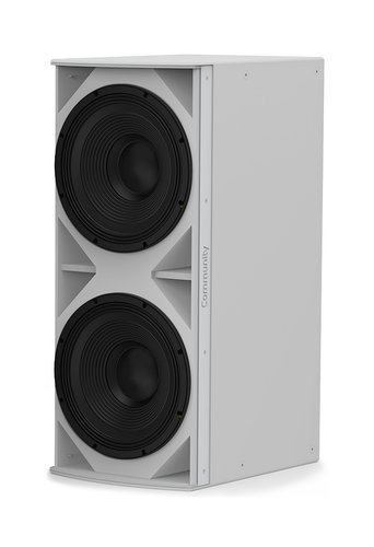 """Community IS6-218W I Series Dual 18"""" 1400W (4 Ohms) Medium Power Passive Installation Subwoofer in White IS6-218W"""