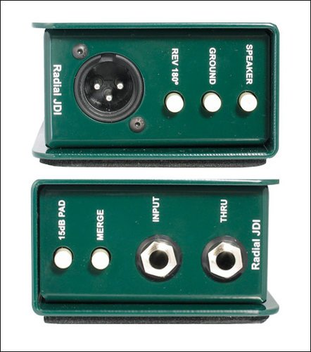 Radial Engineering JDI-MK3 Passive DI, Ground Lift, Jensen Transformer, 10-80 kHz JDI-MK3