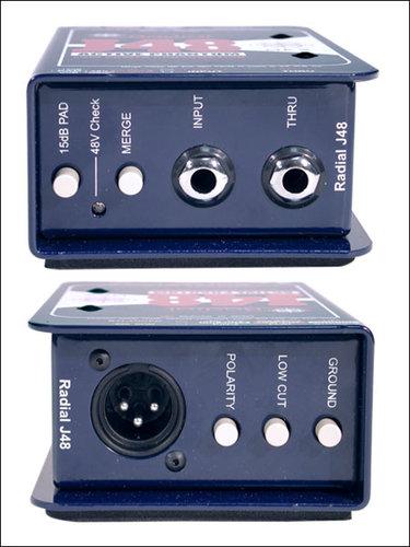 Radial Engineering J48-MK2 48V Phantom Power Active Direct Box J48-MK2