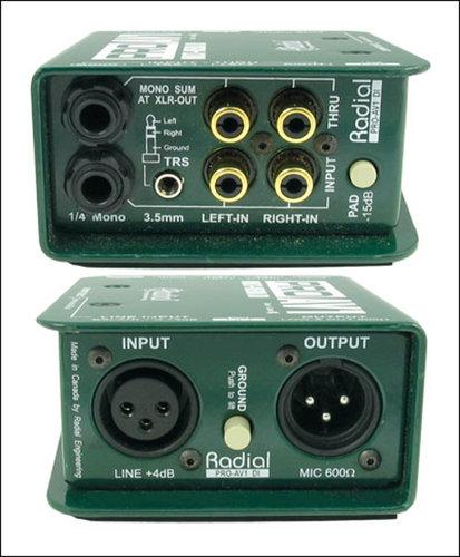 Radial Engineering PROAV1 Single Channel AV DI Box PROAV1