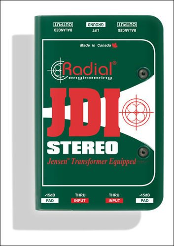 Radial Engineering JDI Stereo 2-Channel Passive Direct Box with Jensen Transformers JDI-STEREO