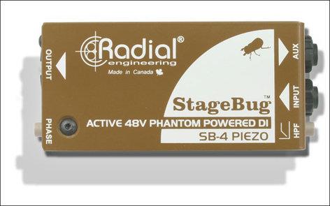 Radial Engineering StageBug SB-4 Piezo Compact Active DI for Peizo Transducers SB4-PIEZO