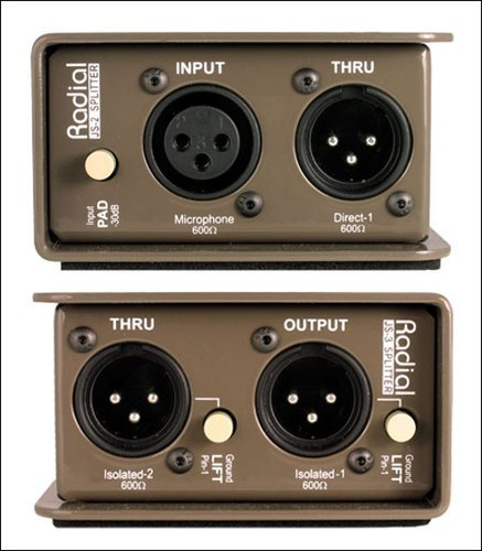 Radial Engineering JS3 Microphone Splitter, 1-in / 3-out JS3
