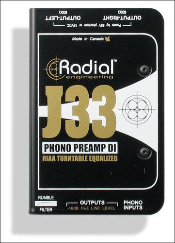 Radial Engineering J33 Turntable Direct Box J33