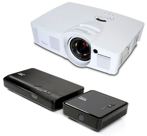 Optoma GT1080 WiFi Bundle [RESTOCK ITEM] with GT1080 Projector and WHD200 Wireless HDMI Transmitter/Receiver Set GT1080-WIFI-B-RST-03