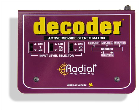 Radial Engineering Decoder Mid-Side Stereo Matrix and Microphone Preamplifier DECODER