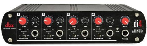 DBX Di4 Active 4-Channel Direct Box That Converts Unbalanced Signals DI4
