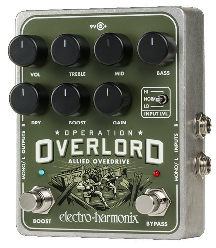 Electro-Harmonix Operation Overlord Overdrive Pedal with PSU Included OPERATION-OVERLOAD