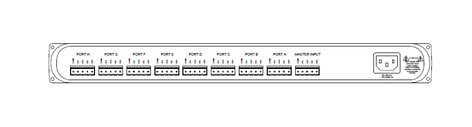 Pathway Connectivity P9115 Fully Isolated 8-Way DMX Repeater Pro with Rear Terminal Configuration P9115