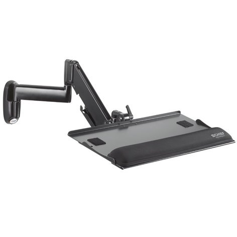 Chief Manufacturing KWK110B  Height-Adjustable Keyboard and Mouse Tray Wall Mount KWK110B