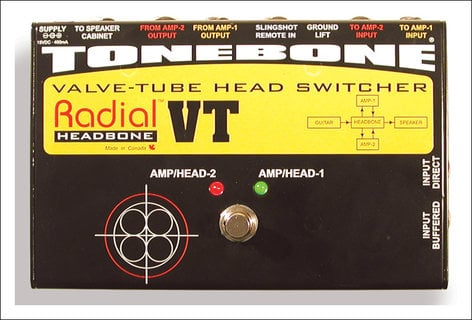 Radial Engineering Headbone-VT Valve Head Switcher HEADBONE-VT