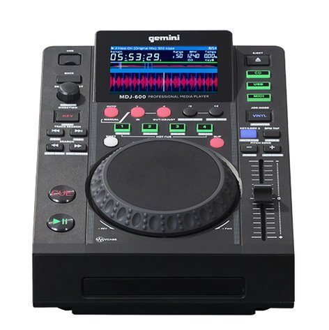 Gemini MDJ-600  Professional USB and CD Media Player MDJ-600