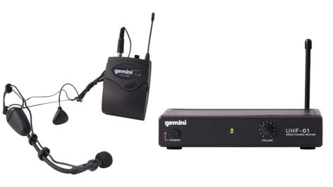 Gemini UHF-01HL  Single Channel Headset/Lavalier Wireless Microphone System UHF-01HL
