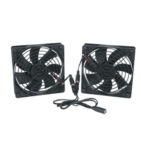 """Middle Atlantic Products FAN2-DC-FC  DC Fan Kit with (2) 69 CFM 4.5"""" Fans, Thermo Controller FAN2-DC-FC"""