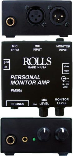 Rolls PM50s Personal Monitor Amplifier PM50S