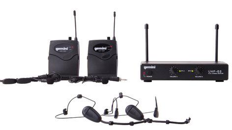 Gemini UHF-02HL 2-Channel Headset/Lavalier Wireless Microphone System UHF-02HL