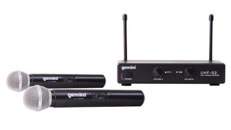 Gemini UHF-02M  Wireless mic system, dual channel  UHF-02M